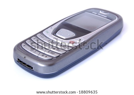 Mobile Phone with English and Russian keyboard - stock photo