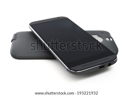 Mobile phone with rubber case