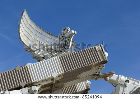 Mobile radar and missile launcher - stock photo