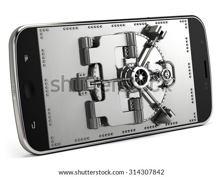 Mobile security concept - stock photo