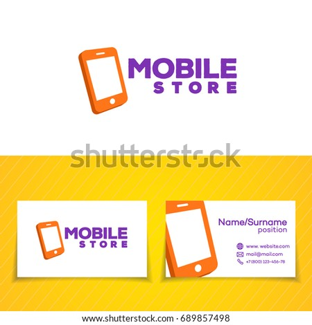 Mobile store logo template set phone stock illustration 689857498 mobile store logo template set with phone on white background can used for mobile shop colourmoves