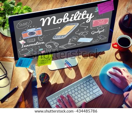 Mobility Smart Phone Communication Technology Concept - stock photo