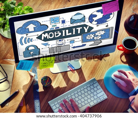 Mobility Smart Phone Technology Connection Concept - stock photo