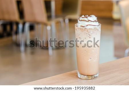 Mocha coffee frappe - stock photo