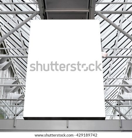 Mock up of blank light box - stock photo