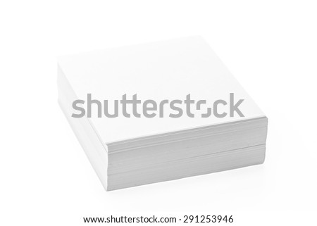 Mock up paper isolated on white background