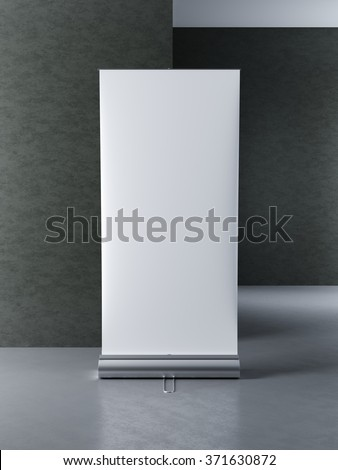 mock up poster stands for advertising display. 3D render - stock photo