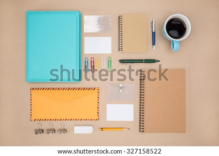 Mock up template of stationary in everyday life,  Office Supply