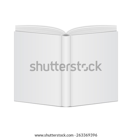 mockup book blank cover view back - stock photo