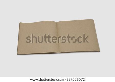 Mockup copybook, notebook. Kraft paper - stock photo