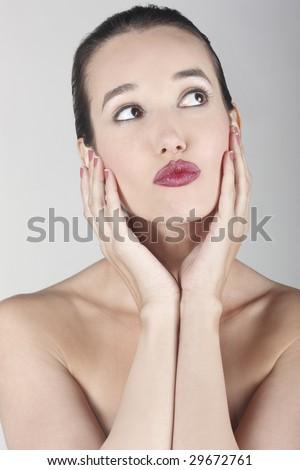 model beautiful - stock photo