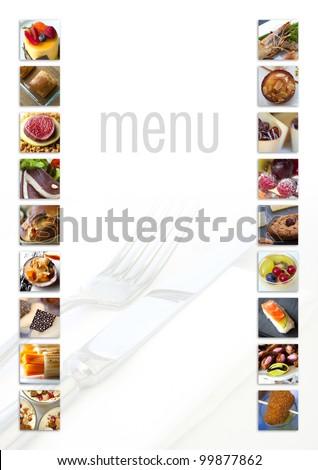 Model for a restaurant menu - stock photo