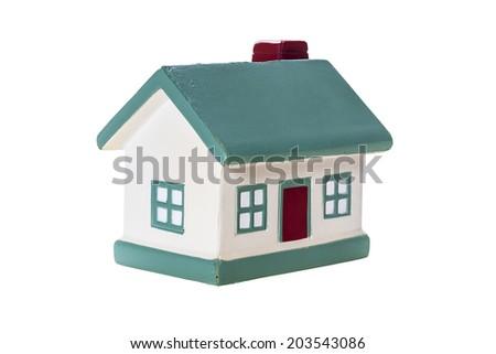 Model house ,isolated on white - stock photo