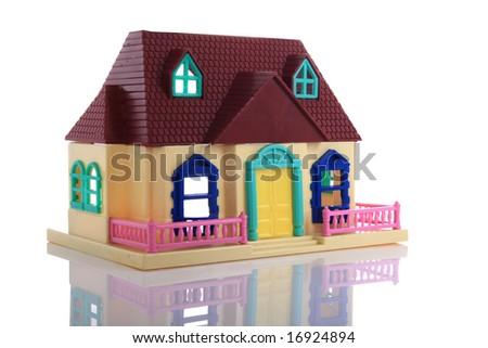 model  house    isolated  on  white   background - stock photo