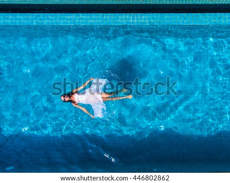 Model swimming pool aerial view stock photo 446802862 shutterstock - Rectangle pool aerial view ...