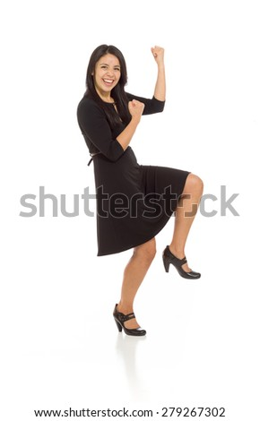 Model isolated cheerful - stock photo