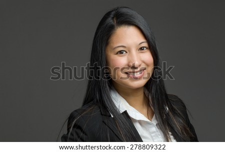 Model isolated on plain background in studio