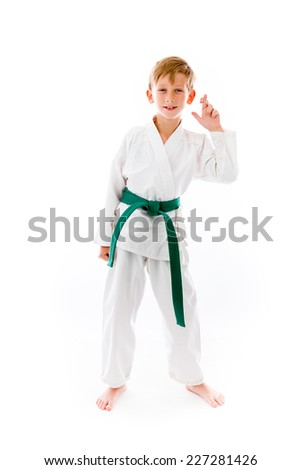 model isolated with fingers crossed for luck - stock photo