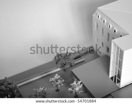 model of a building - stock photo