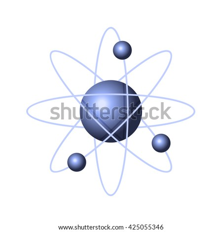 Model of Abstract Atom Structure. illustration - stock photo