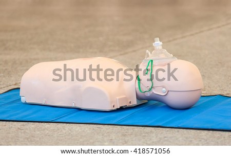 Model of dummy used for CPR training. - stock photo