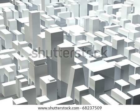 Model of modern city district