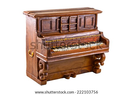 Model of piano on the white background - stock photo
