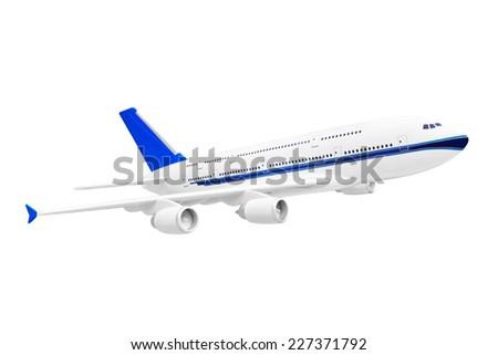 Model of plane isolated on white background - stock photo