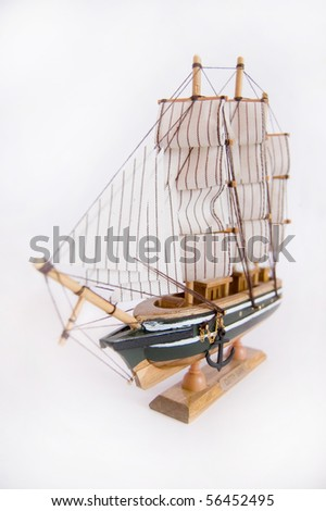 Model of ship on isolated background.