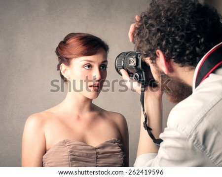 Model posing for a picture  - stock photo