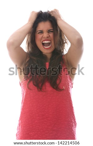 Model Released. Angry Young Woman