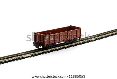 model toy train studio isolated - stock photo