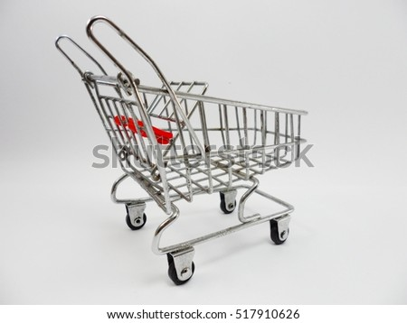 Model trolleys in supermarkets.