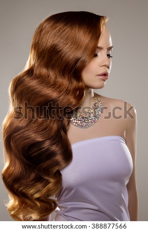 portrait beautiful girl dyed hair professional stock photo