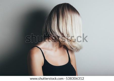 Haircut Stock Images RoyaltyFree Images Vectors Shutterstock - Haircut girl model