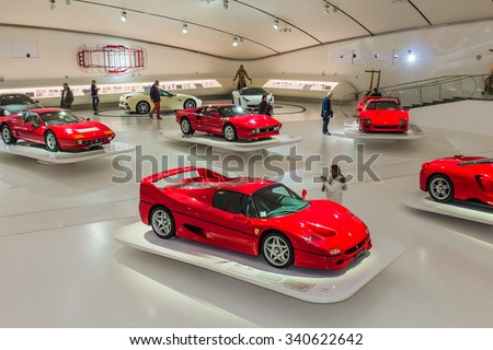 ferrari museum stock images royalty free images vectors. Black Bedroom Furniture Sets. Home Design Ideas