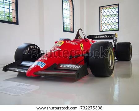 MODENA, ITALY JULY 21, 2017: 1985 F1 Ferrari 156/85 In