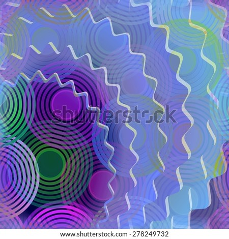 Modern abstract background with gear and concentric circle patterns - stock photo