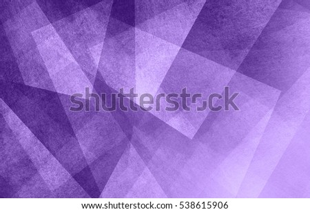 modern abstract purple background design with layers of textured white transparent material in triangle diamond and squares shapes in random geometric pattern