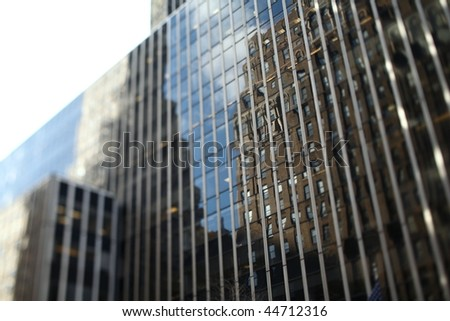 modern administrative/office building in a big city - stock photo