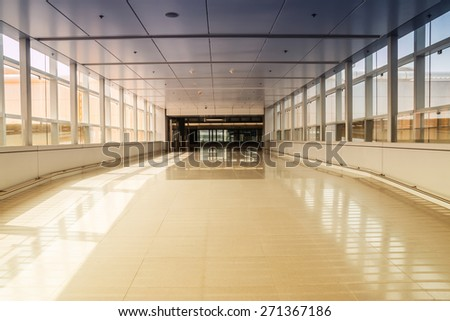 modern aisle - stock photo