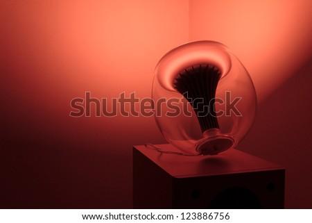 Modern ambient light orange light - stock photo
