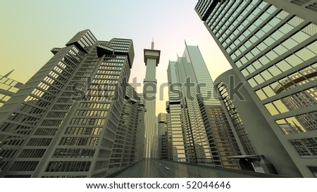 modern and abstract city view