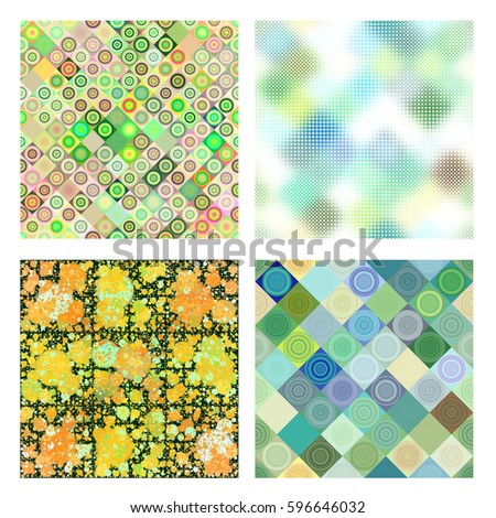 Modern and colorful abstract background collection isolated over white background