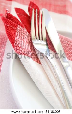 Modern and elegant silverware set - stock photo