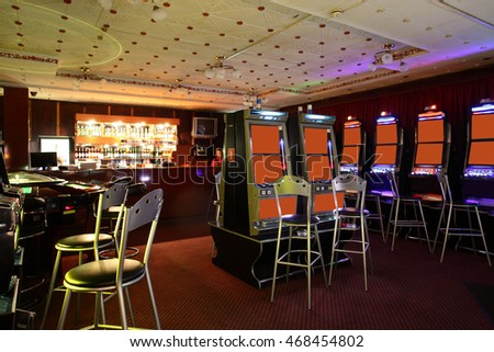 modern and fashionable casino in european style