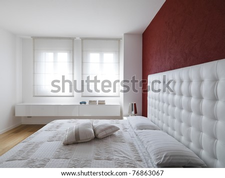 modern and luxurious bedroom - stock photo