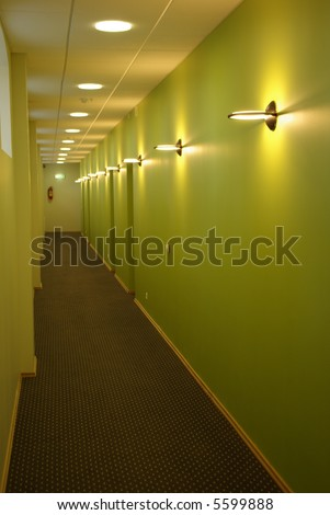 Modern and stylish corridor - stock photo