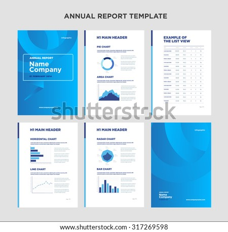 Modern Annual Report Template Cover Design Stock Illustration