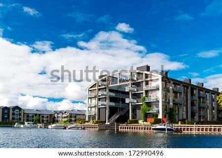 Modern apartment building at Copenhagen Denmark - stock photo